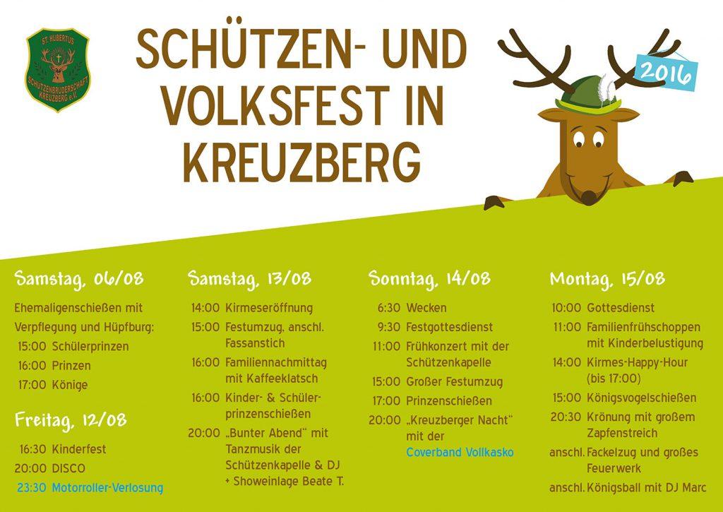 Plakat Festfolge 2016